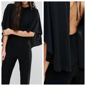 ENDLESS ROSE BLK JUMPSUIT SMALL NWT OPEN BACK